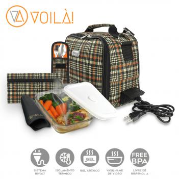 Bolsa Elétrica Voilà! Bag - Xadrez Orange (Com TODOS os Acessórios)