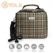 Bolsa Elétrica Voilà! Bag -  Xadrez Orange