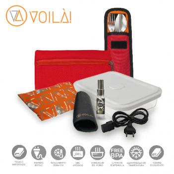 Kit Completo de Acessórios Voilà! Bag  - Pool em Mesh Aerado Vermelho