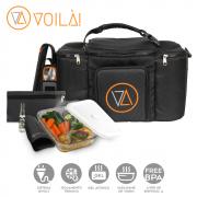 Mala Voilà! Bag - Gym Preta  04 refeições (Com TODOS os Acessórios)