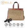 Bolsa Elétrica Voilà! Bag - Classic em Linho Importado Café