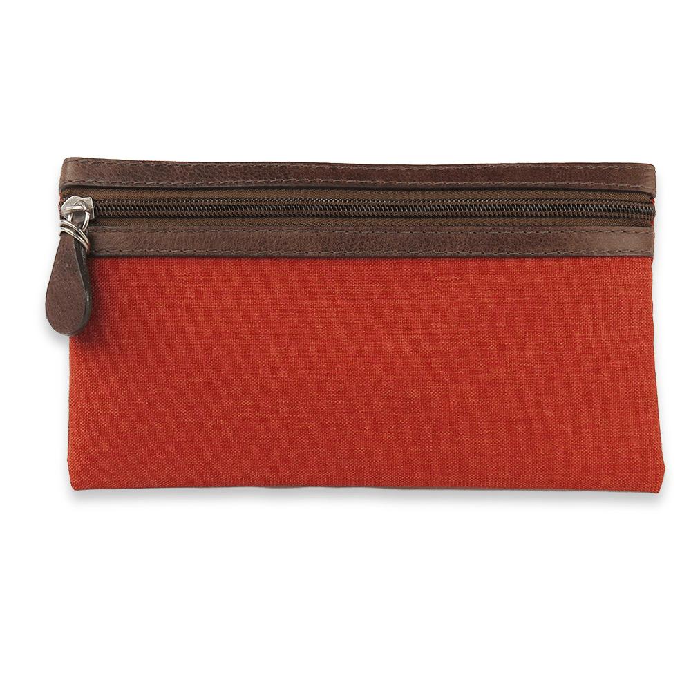 Bolsa Elétrica Voilà! Bag - Classic em Linho Importado Laranja