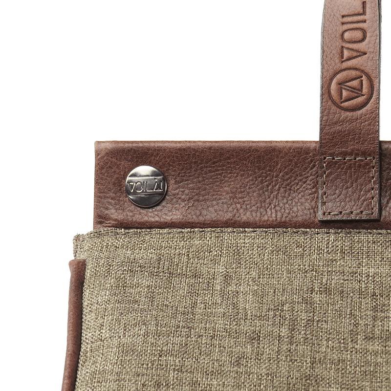Bolsa Elétrica Voilà! Bag - Classic em Linho Importado Café (Com TODOS os Acessórios)