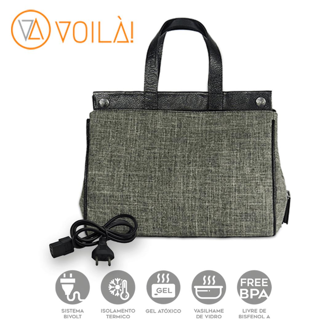 Bolsa Elétrica Voilà! Bag - Classic em Linho Importado Preto