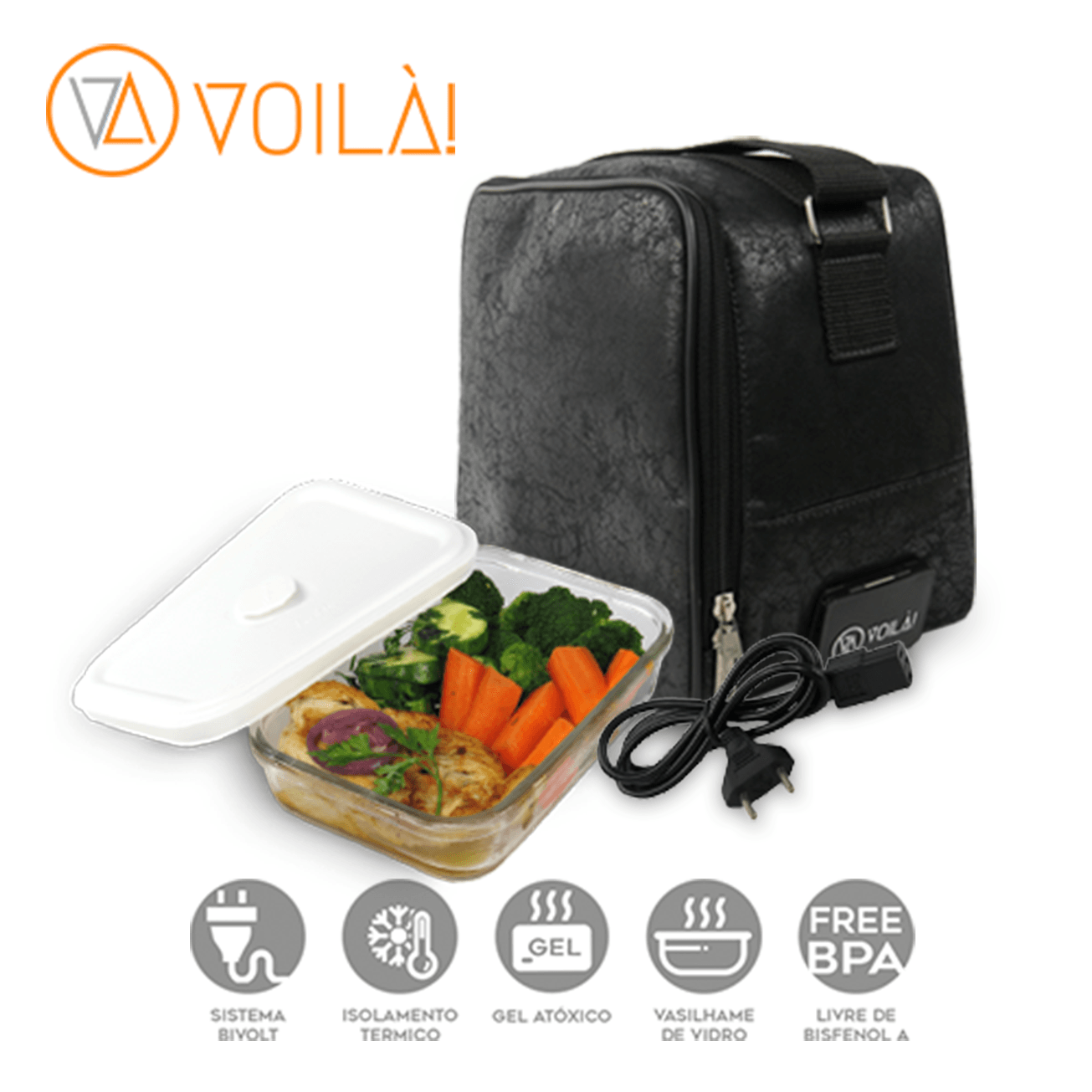 Bolsa Elétrica Voilà! Bag - Nobuck + Vasilhame BPAFree