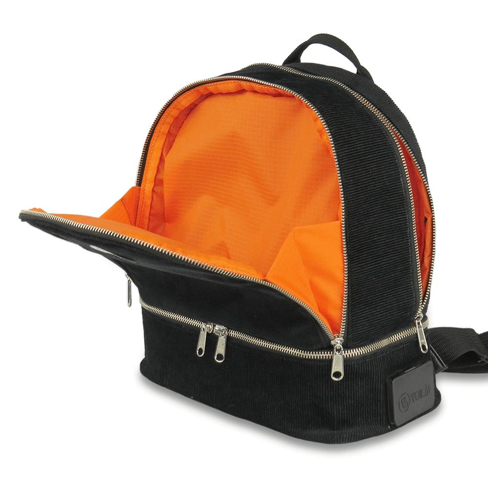 Mochila Voilà! Bag - Cult em Veludo Preto