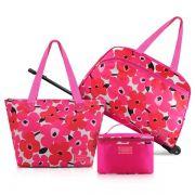 Conjunto De Mala Ou Bolsa De 3 Peças Pink