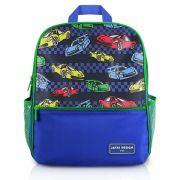 Mochila Escolar Infantil Carro Azul