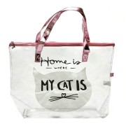 Sacola Transparente Home Is Where My Cats Is