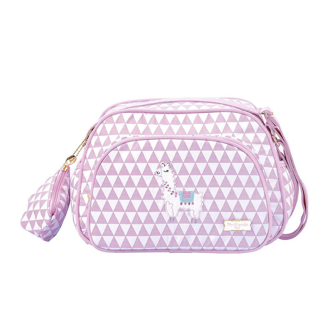 Bolsa Pequena Lhama Piramide Rosa