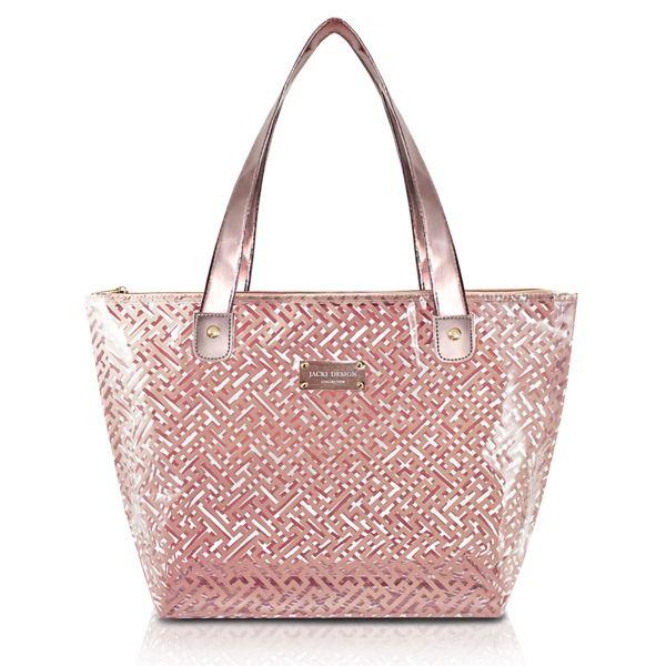 Bolsa Shopper Transparente Rosa