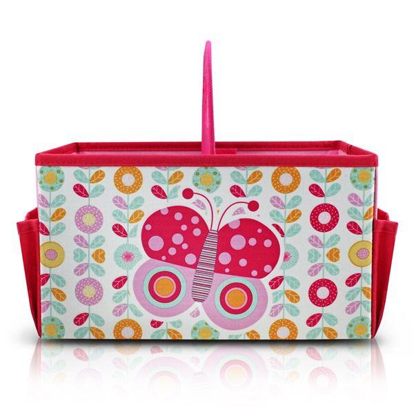 Caixa Organizadora Infantil Com Alça Rosa