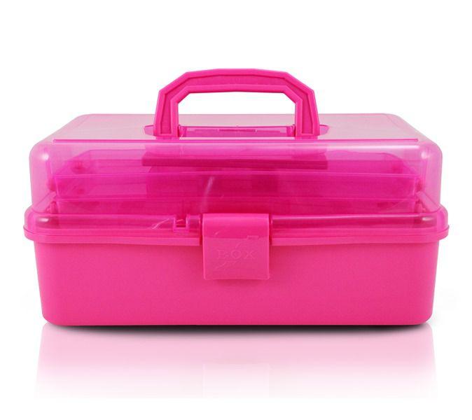 Caixa Organizadora Transparente Pink
