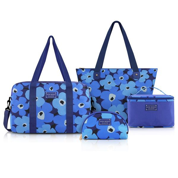 Conjunto De Bolsa De 4 Peças Azul
