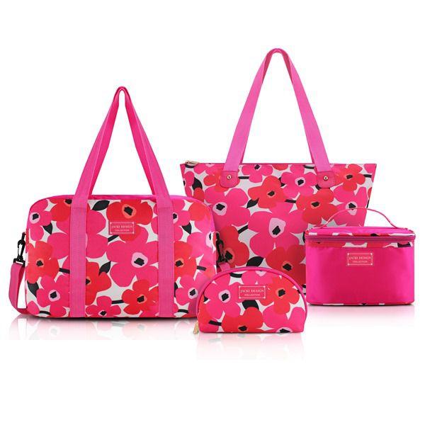 Conjunto De Bolsa De 4 Peças Pink