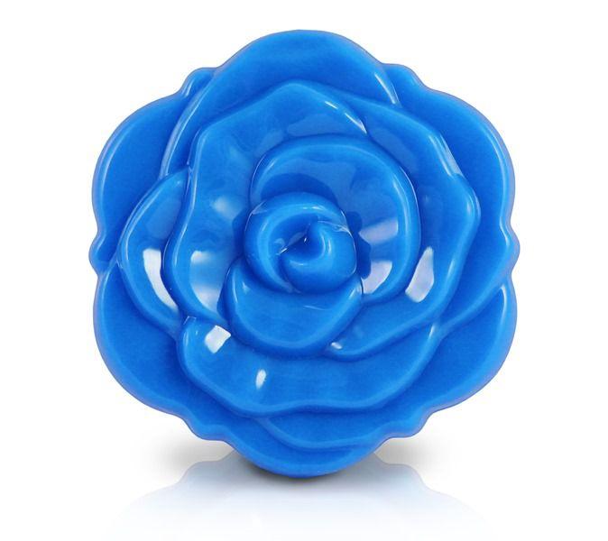 Espelho De Bolsa Flor Azul