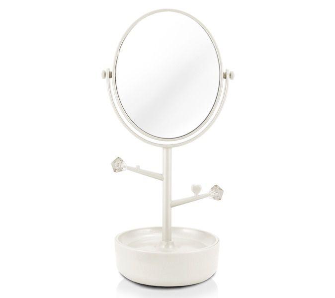 Espelho De Mesa Com Compartimento Para Jóias Branco