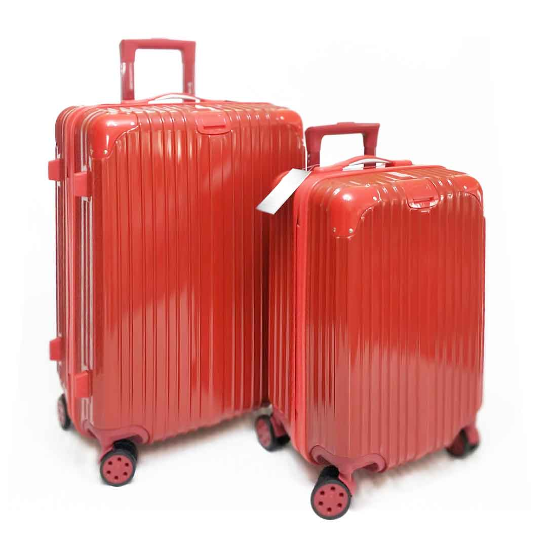 Kit Malas de Viagem Qualis P e M Vermelho