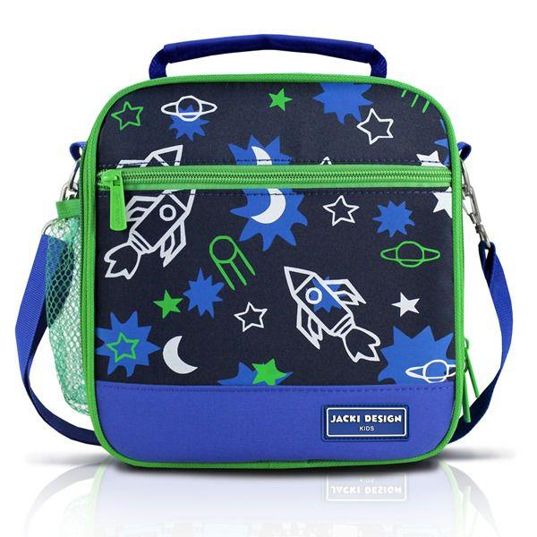 Lancheira Térmica Infantil Foguete Azul