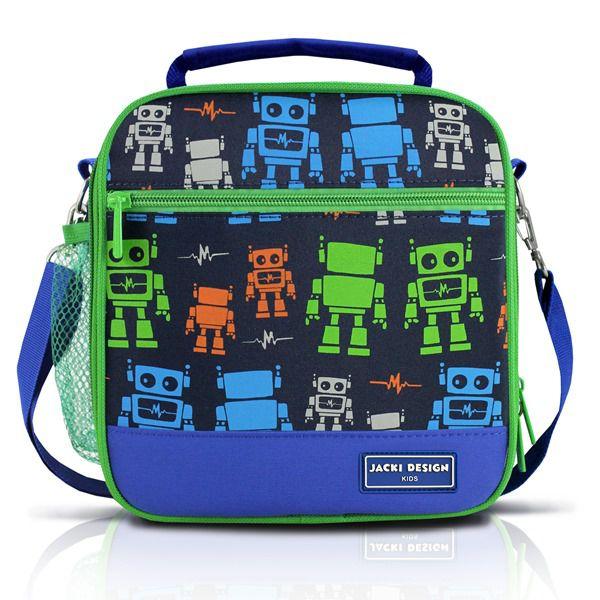 Lancheira Térmica Infantil Robô Azul