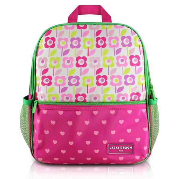 Mochila Escolar Infantil Coração Rosa Pink