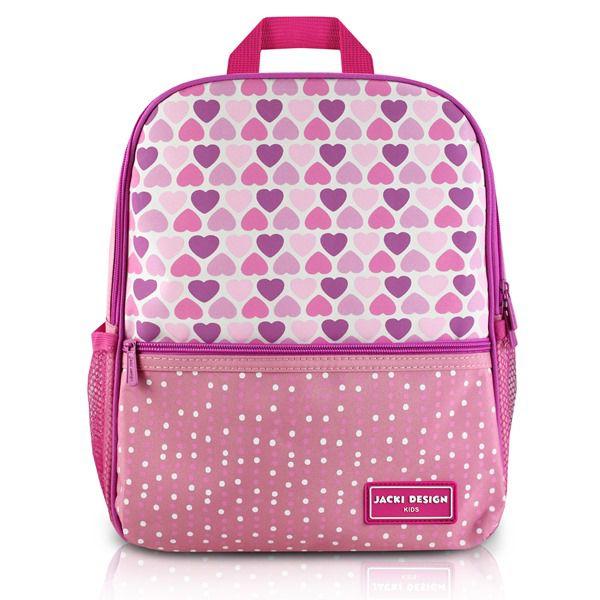 Mochila Escolar Infantil Coração Rosa Rosa