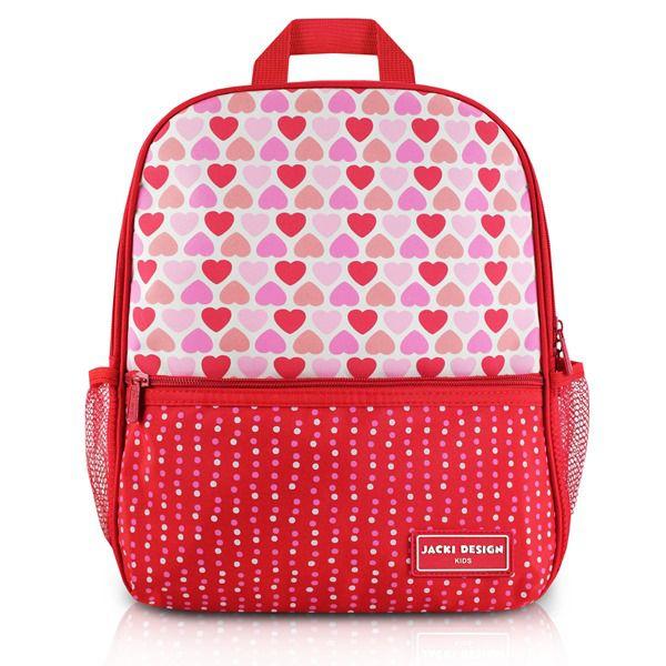Mochila Escolar Infantil Coração Rosa Vermelho