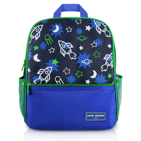 Mochila Escolar Infantil Foguete Azul