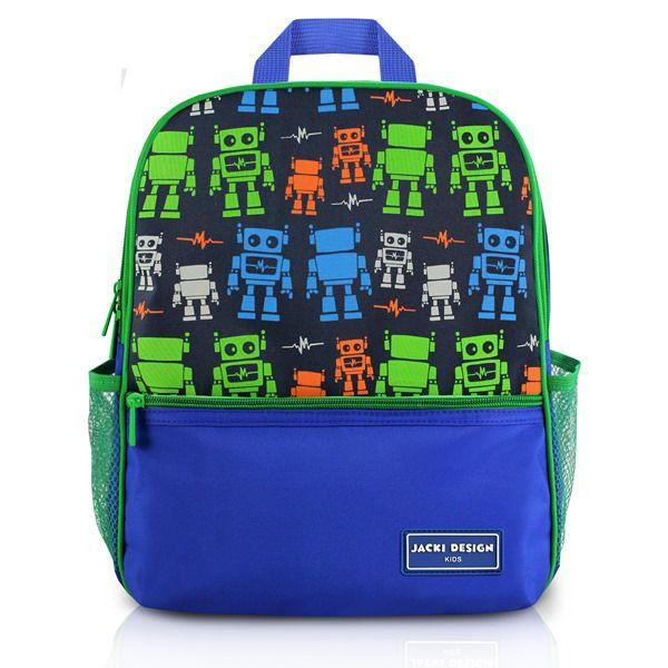 Mochila Escolar Infantil Robô Azul