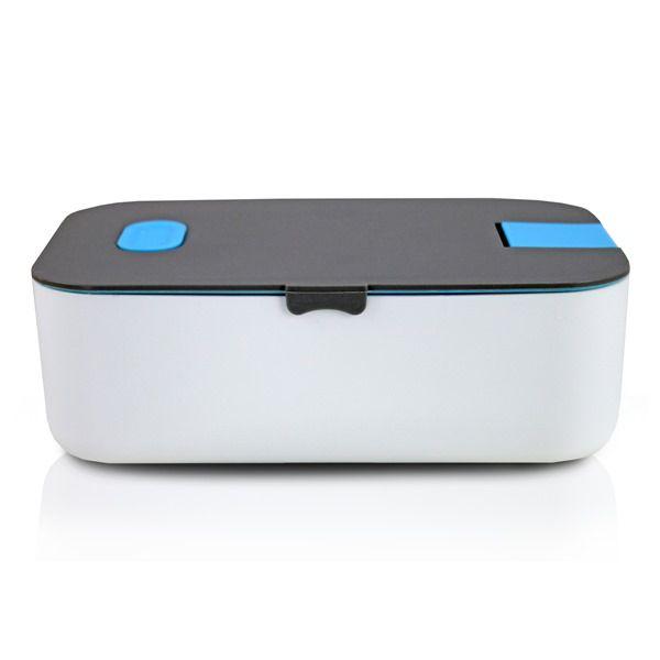 Pote Marmita Com Porta Celular 800Ml Azul