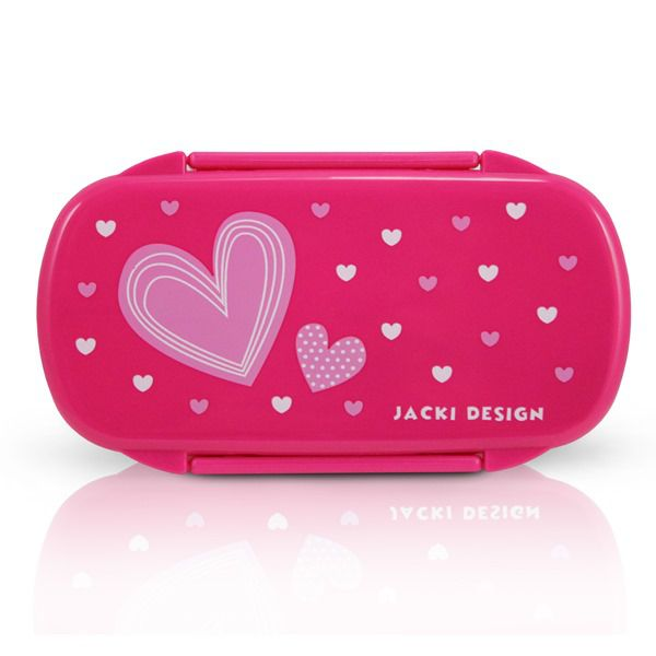 Pote Para Lanche Infantil Coração Pink Rosa