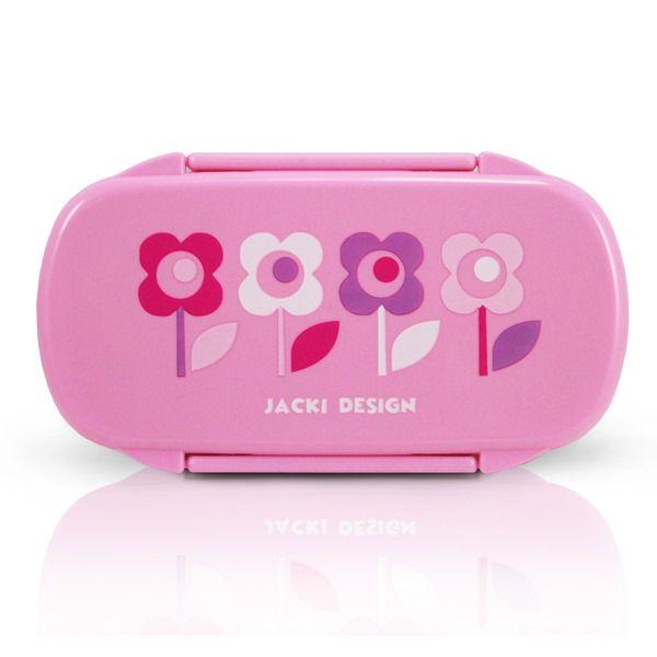 Pote Para Lanche Infantil Flor Pink Rosa