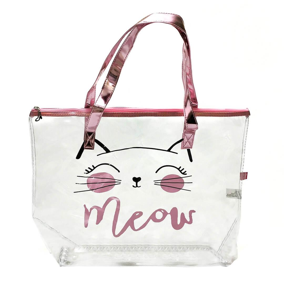Sacola Transparente Meow