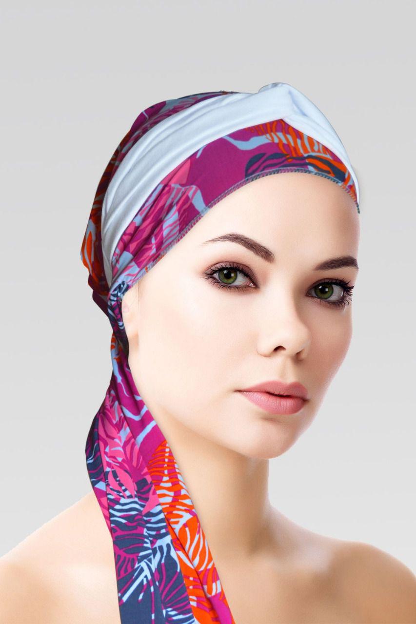 Conjunto Cozy (Turbante Estampado com proteção UV+ Tiara de Argola )