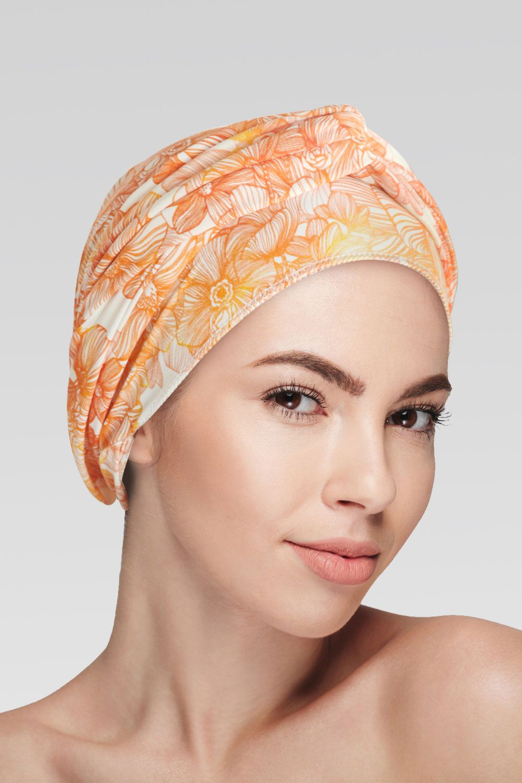 Conjunto Delicado (Turbante Estampado com proteção UV+ Tiara de Argola )