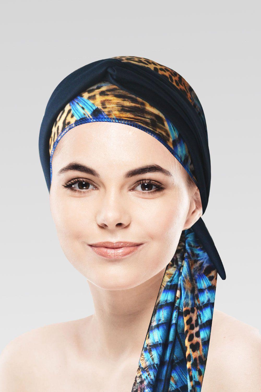 Conjunto Piume (Turbante Estampado com proteção UV+ Tiara de Argola )