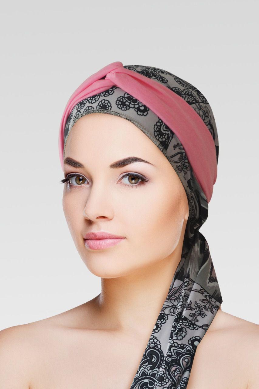Conjunto Suane (Turbante Estampado com proteção UV+ Tiara de Argola )