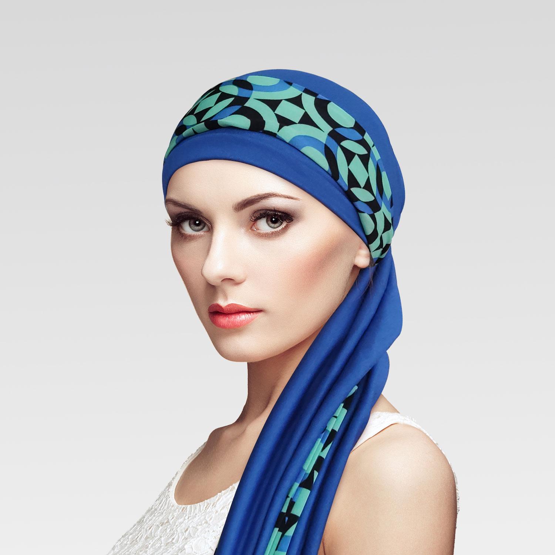 Conjunto Turbante Azul Royal + Faixa Movement