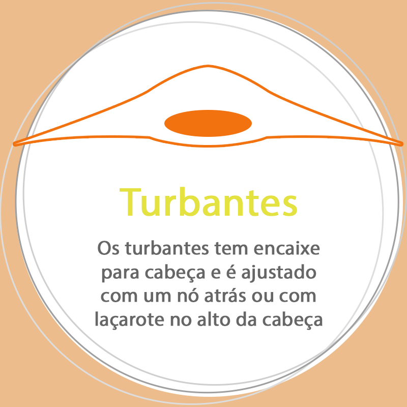 Conjunto Turbante na cor escolhida + Faixa Lisa Laranja