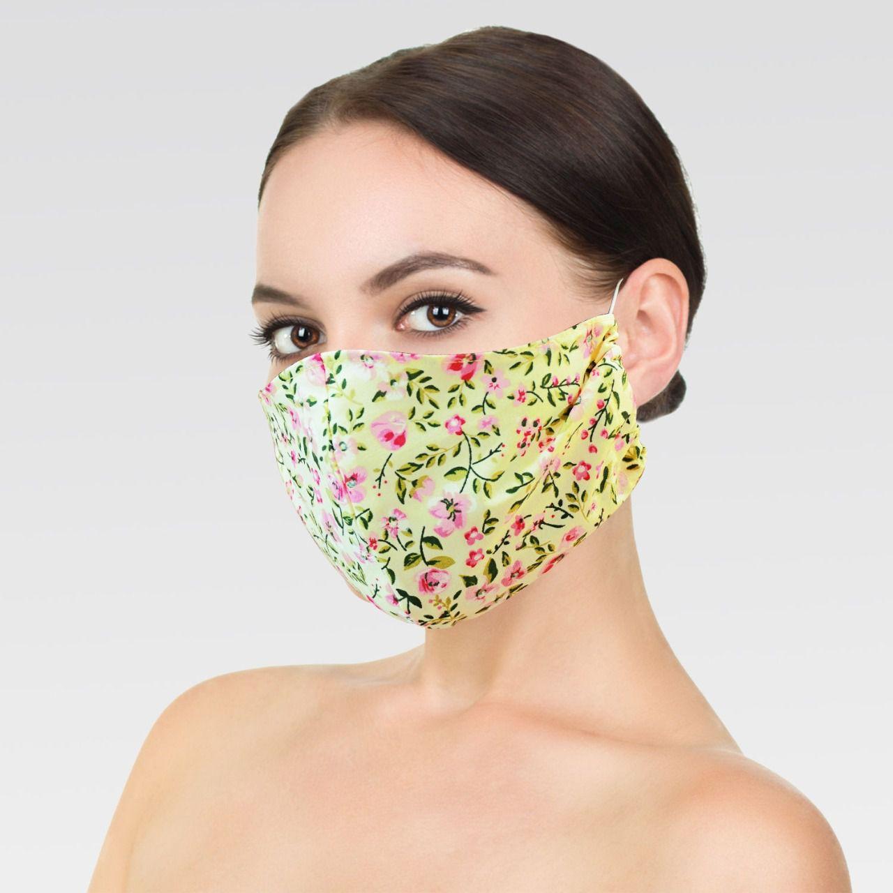 Máscara de Proteção para Imunidade - Amarelo claro