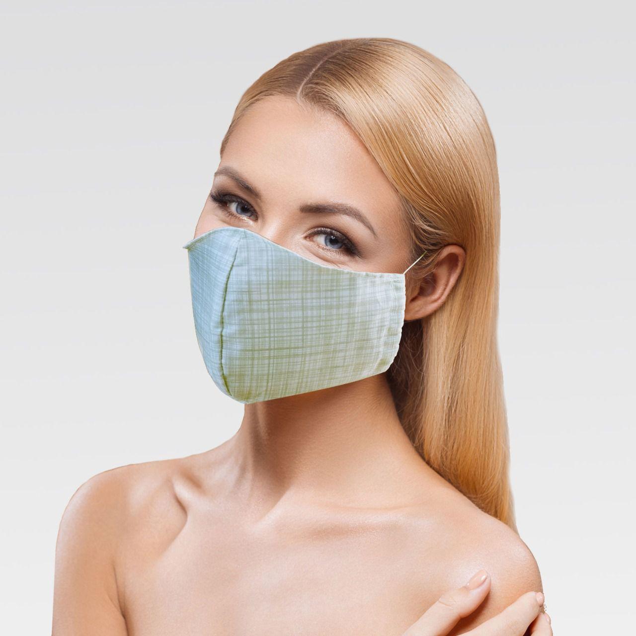 Mascara de Proteção para Imunidade - Branco e Cinza