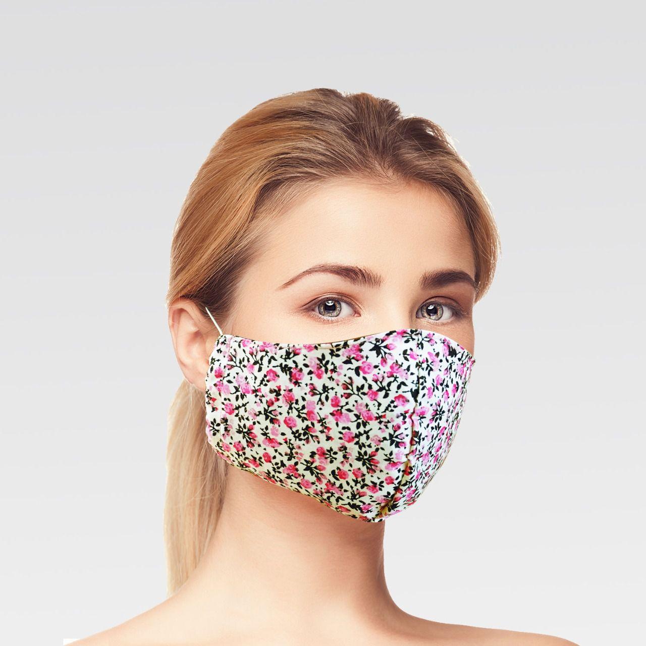 Mascara de Proteção para Imunidade - Off com Rosas