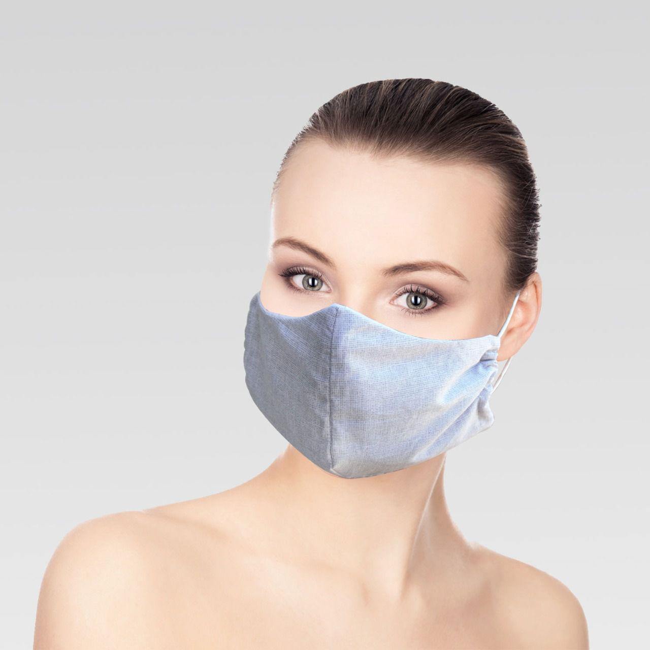 Máscara Unissex de Proteção para Imunidade - Cinza Clara