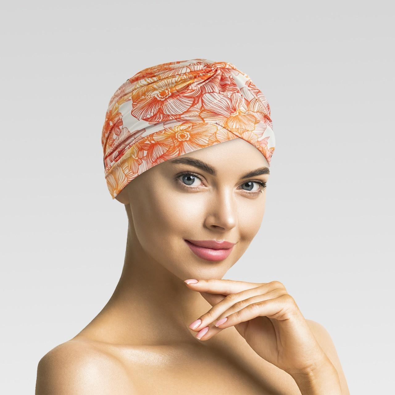 Touca Drapeada  Delicado com Proteção UV