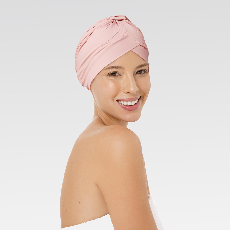 Touca Drapeada  Rosê com Proteção UV