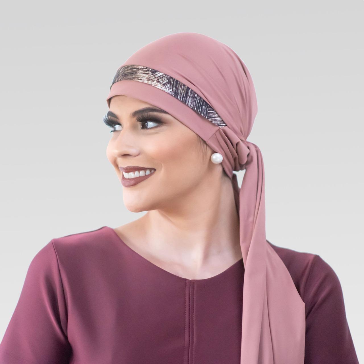 Turbante Avulso Rosa Velho com Proteção UV