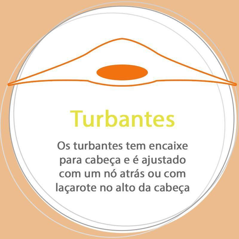 Turbante bege  + Trança Larga bege com marrom (Duo)