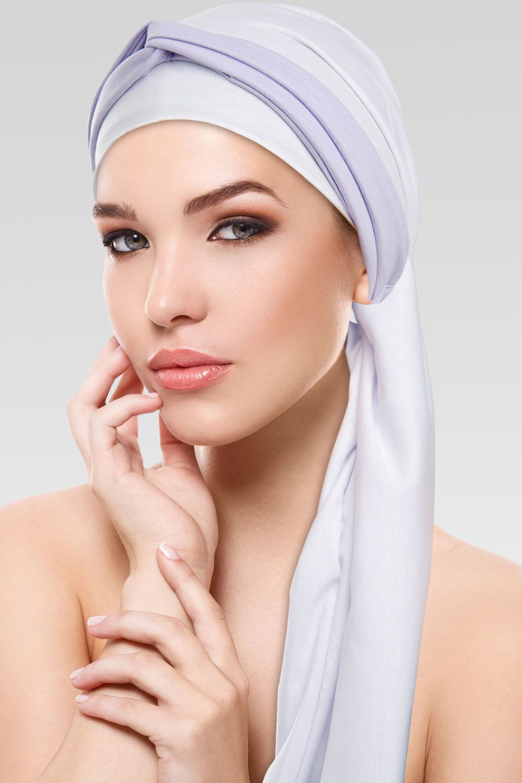 Turbante Branco + Tiara de Argolas na cor desejada