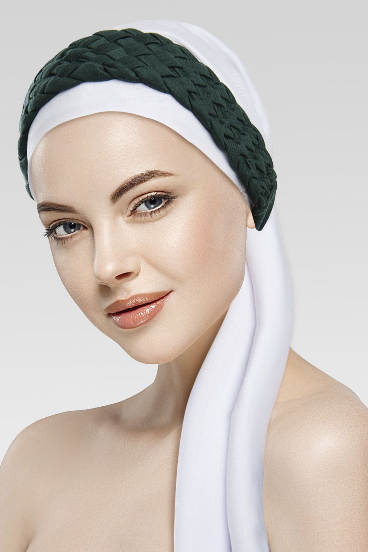 Turbante Branco + Trança Larga na cor desejada
