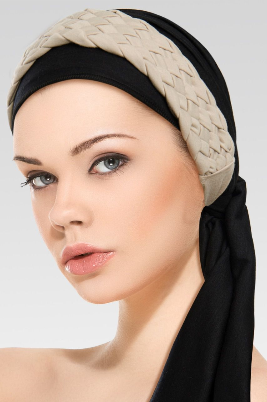 Turbante preto + Trança Larga na cor desejada